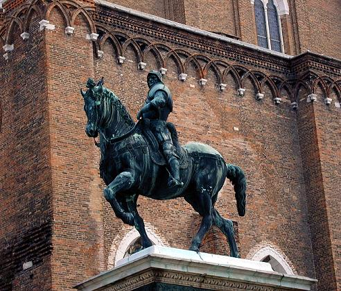 This equestrian statue is in Venice.  The Newark Colleoni is a near-exact copy.